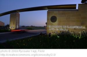 The main entrance at University of California, Santa Barbara.