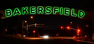 The iconic entrance sign to Bakersfield. Photo courtesy of Rhonda Bagley.