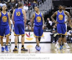 The Golden State Warriors are worth an estimated $555 million, a dramatic increase from last season.