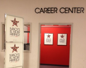 A career center at a Macy's department store in downtown Sacramento.